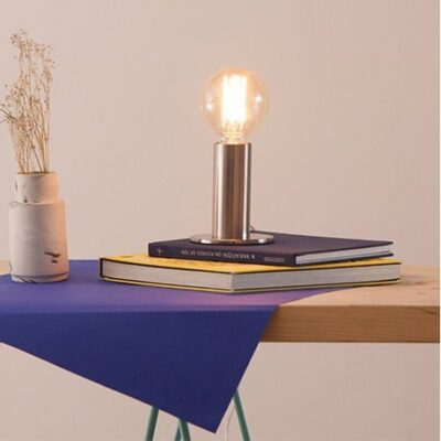 Edgar Sol tap on, tap off table lamp from Berlin in contemporary Scandi styling