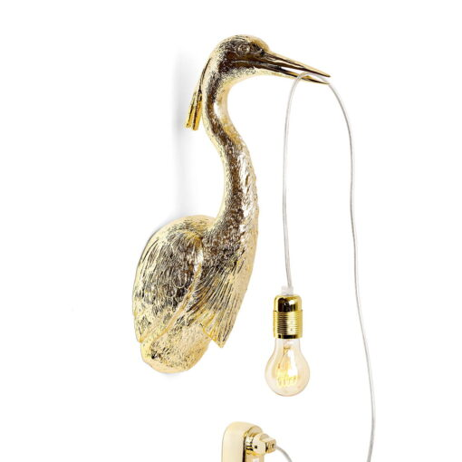 gold heron wall light