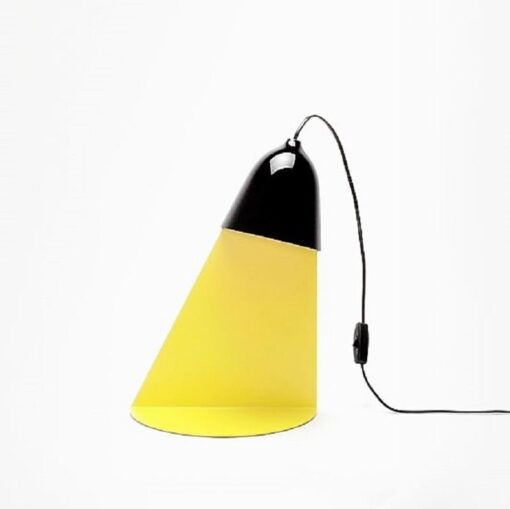 Shelf, light, lamp, black and yellow, optical illusion, table lamp or wall light