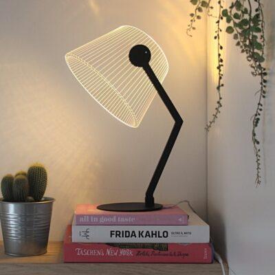 3D Ziggi lamp black