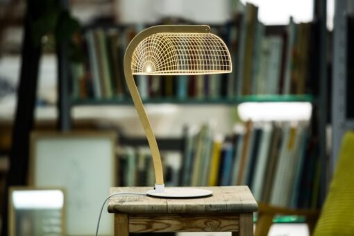 3D table lamp, bankers light type, optical illusion, laser cut perspex