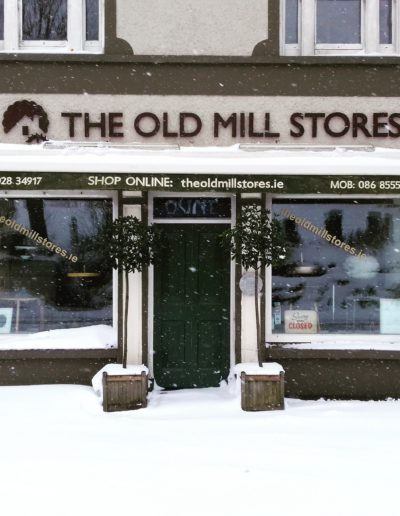 The Old Mill Stores west Cork in the snow