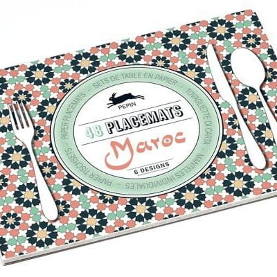 paper placemat book, tear-out Maroc design