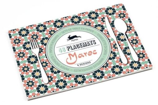 paper placemat book, tear-out Maroc design