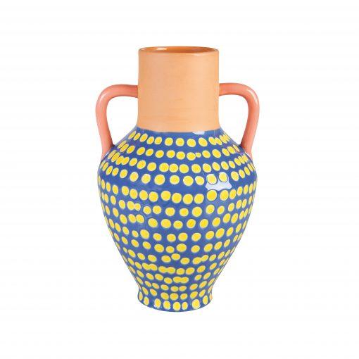 dotty terracotta vase collection