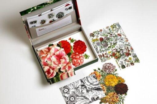 Letter writing set Flower prints