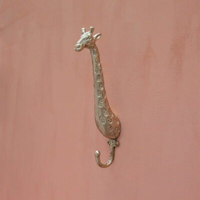 giraffe brass wall hook