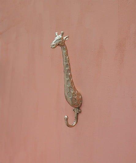giraffe brass wall hook