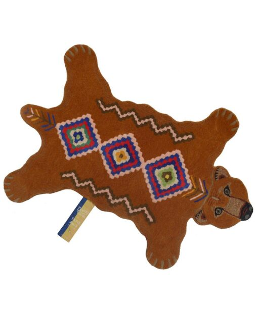 animal friends rug berber grizzly little brown bear