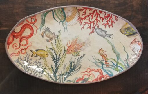 sealife oval melamine serving platter