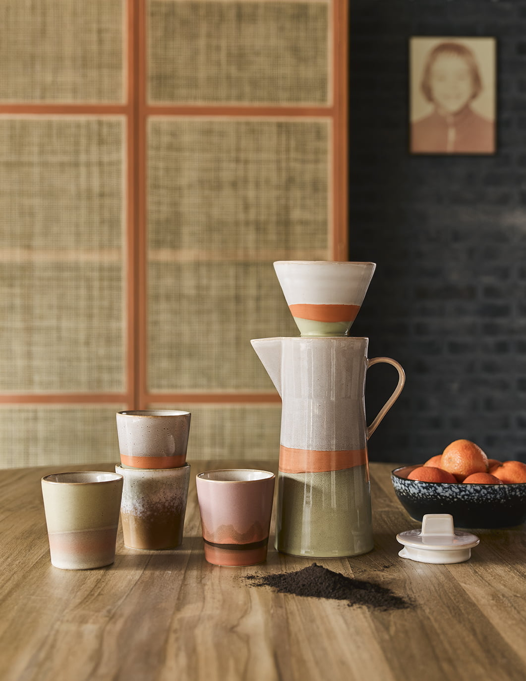 retro ceramic coffee collection