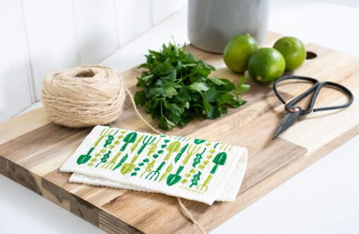 green gardening biodegradable dishcloth
