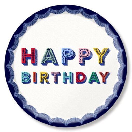 Happy Birthday greetings tray