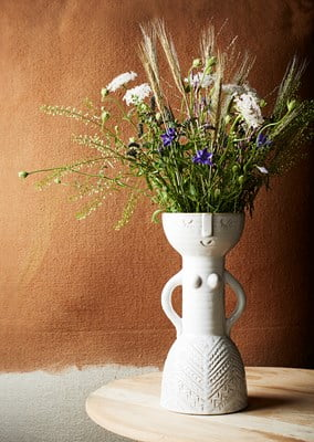 Madame vase in all natural stoneware