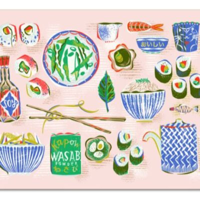 Sushi tablemat takes centre stage on the dinner table