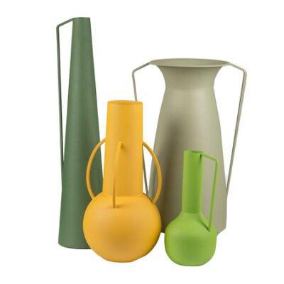 set of 4 roman vases Green