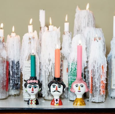 Marsol, Carlos and Conchita ceramic candle holders