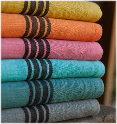 Linen cotton mix Piano Collection Charvet Editions